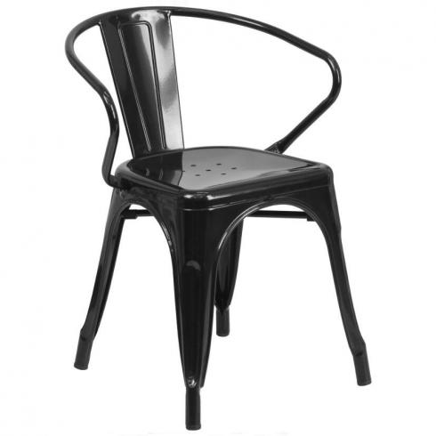 Antique design cheap and fine bistro industrial metal dinner chair